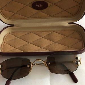 Cartier rimless C decor sunglasses